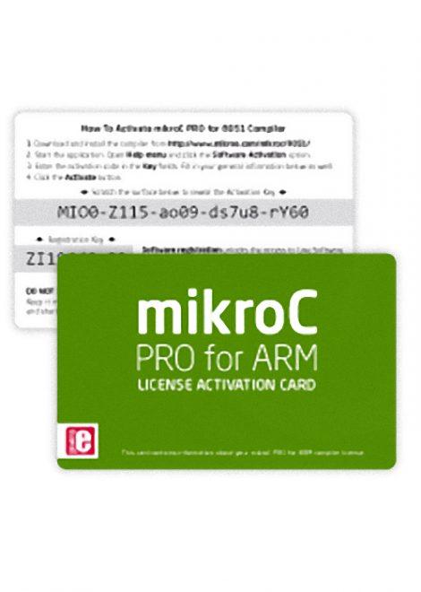 mikroC PRO for ARM - License Activation Card